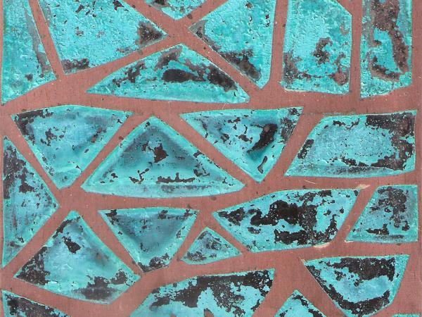 Mosaico verdigris