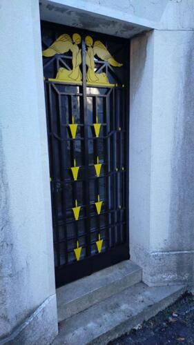 Restauro cancello cappella privata - dopo il restauro