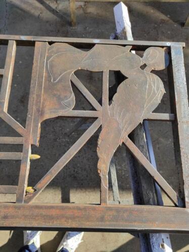 Restauro cancello cappella privata - durante il restauro