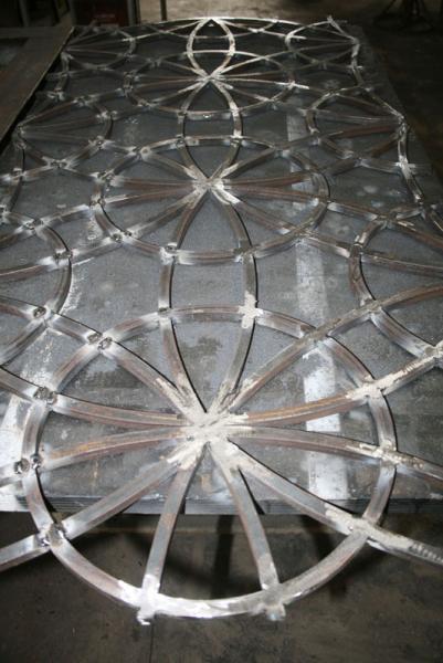 Inferriata disegno orientale costruzione